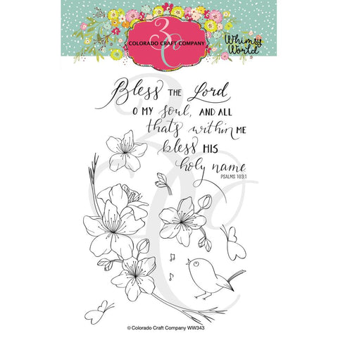 Whimsy World Bless the Lord 4x6 Clear Stamps