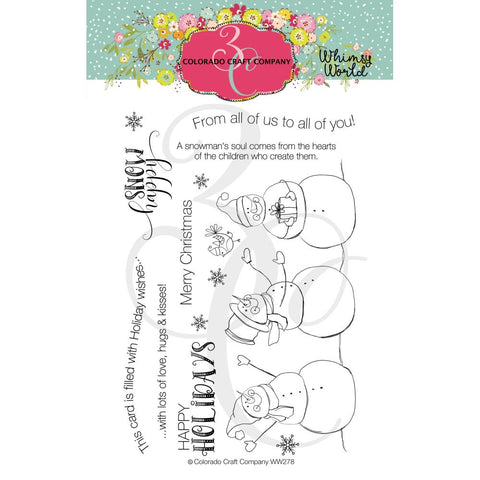 Whimsy World Snow Happy 4x6 Clear Stamps