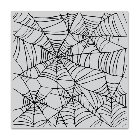 Spider Web Bold Prints 6x6 Cling Stamps
