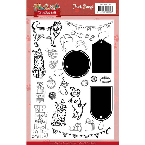 Amy Design Christmas Pets Clear Stamp Set