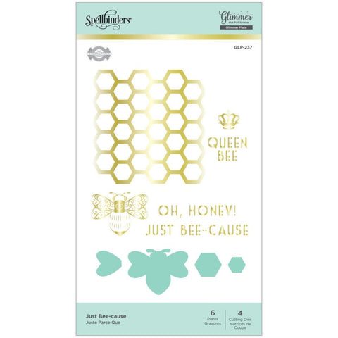 Glimmer Becca Feeken Sweet Cardlets Just Bee-Cause Hot Foil Plates