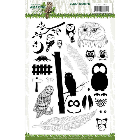 Amy Design Amazing Owls Clear Stamp Set