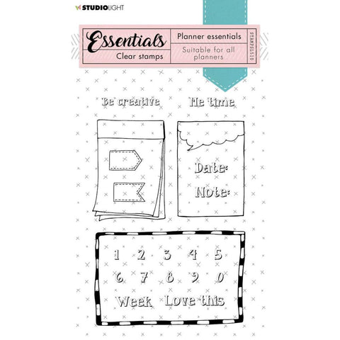 Essentials A6 Clear Stamp Set: Planner NR. 510