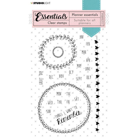 Essentials A6 Clear Stamp Set: Planner NR. 511
