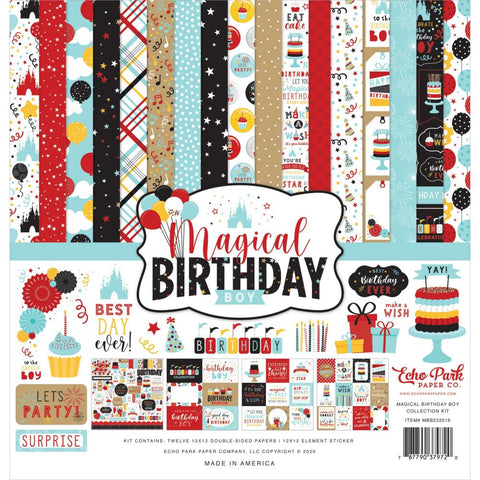 Magical Birthday Boy 12x12 Collection Kit