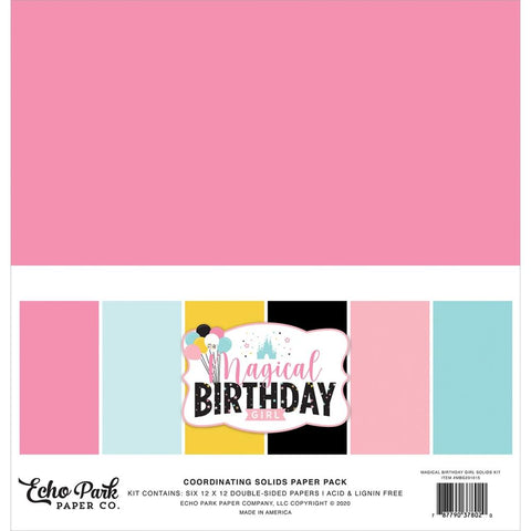 Magical Birthday Girl 12x12 Solids Kit