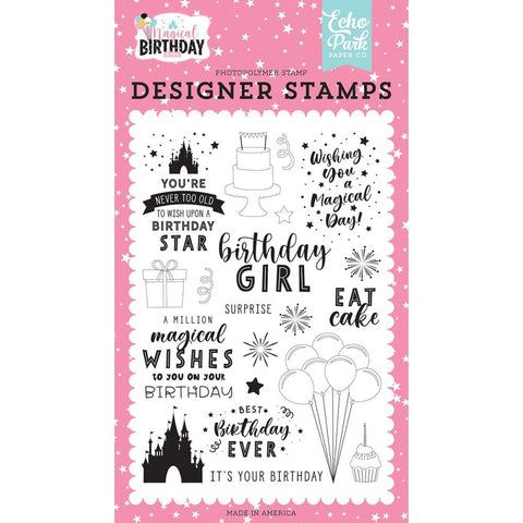 Magical Birthday Girl 4x6 Clear Stamp Set