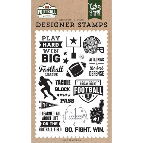 Football 4x6 Clear Stamp Set: Tackle