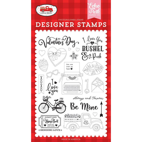 Cupid & Co. 4x6 Clear Stamp Set: Be Mine