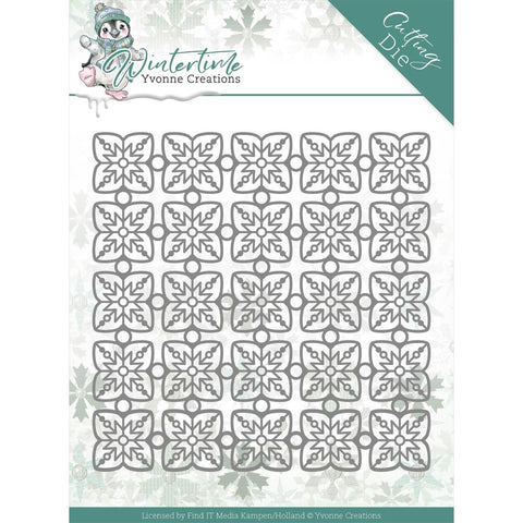Yvonne Creations Winter Time Dies: Snowflake Pattern