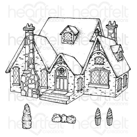 Countryside Cottage Cling Rubber Stamp Set: Cottage