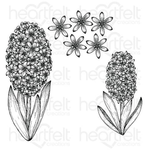 Spring Garden Cling Rubber Stamp Set: Fragrant Hyacinth