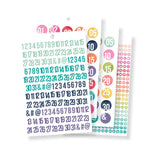 Carpe Diem Sticker Tablet: Numbers