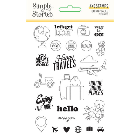 Going Places 4x6 Clear Stamp Set