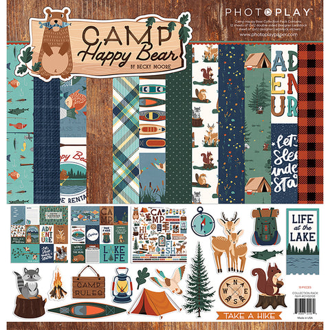 Camp Happy Bear 12x12 Collection Kit