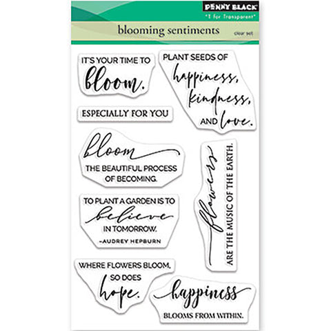 Blooming Sentiments Clear Stamps