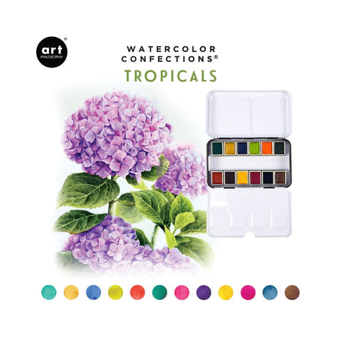 Art Philosophy Tropicals Watercolor Confections Pans Set (12PK)