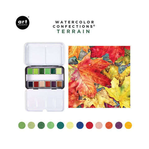 Art Philosophy Terrain Watercolor Confections Pans Set (12PK)