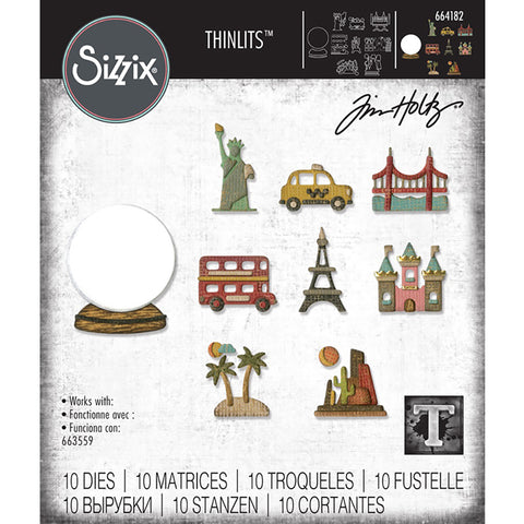 Tim Holtz Tiny Travel Globe Thinlits Dies