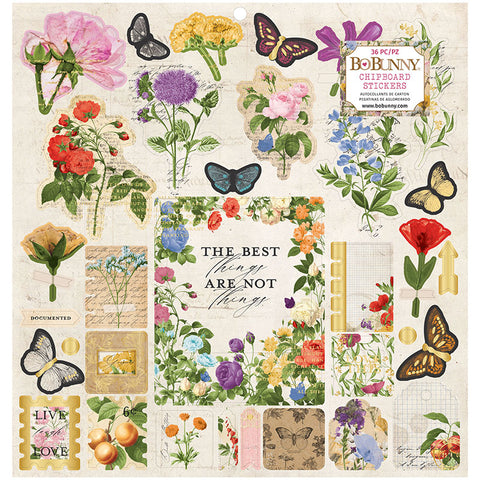 Botanical Journal 12x12 Cardstock Stickers