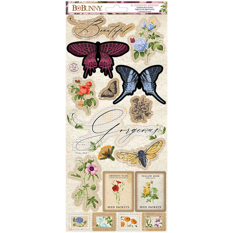 Cardstock Stickers: Botanical Journal