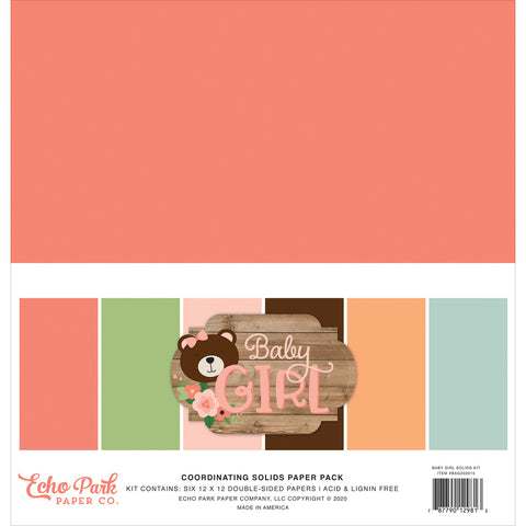 Baby Girl 12x12 Solids Kit