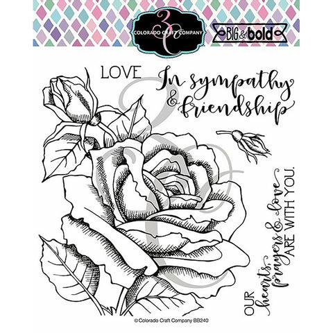 Big & Bold Sympathy Rose 6x6 Clear Stamps
