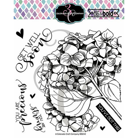 Big & Bold Get Well Hydrangea 6x6 Clear Stamps