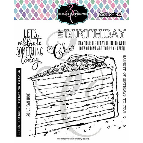 Big & Bold Birthday Cake 6x6 Clear Stamps