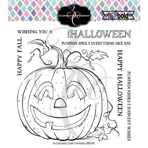 Big & Bold Jack-O-Lantern 6x6 Clear Stamps