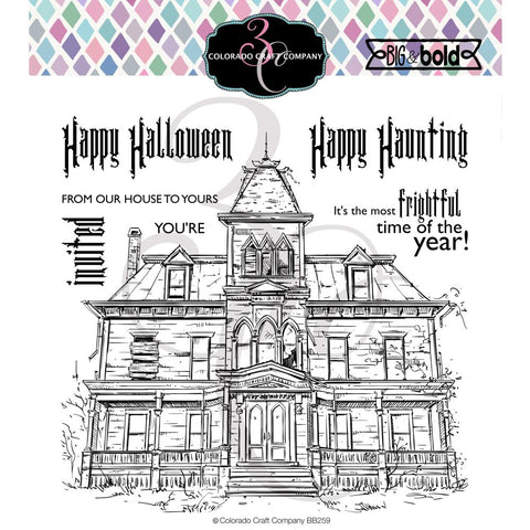 Big & Bold Haunted House 6x6 Clear Stamps