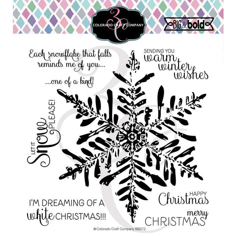 Big & Bold Winter Wishes Snowflake 6x6 Clear Stamps