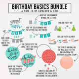Birthday Basics Dies