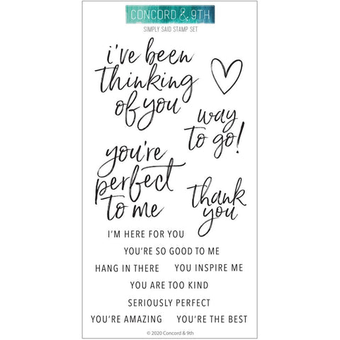 4x8 Clear Stamps: Simply Said