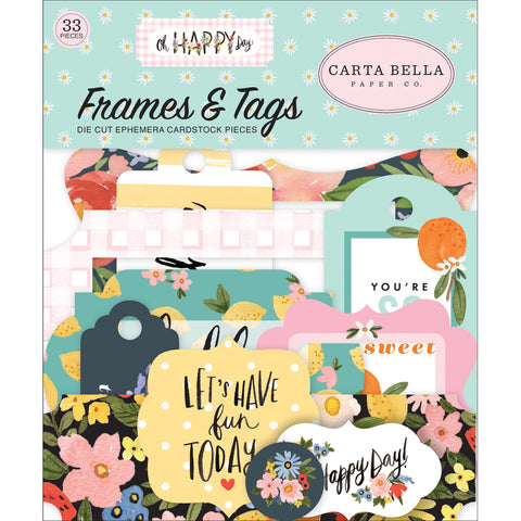 Ephemera Pack: Oh Happy Day Spring Frames & Tags