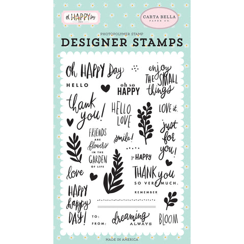 Clear Stamps: Oh Happy Day Spring Happy Happy Day