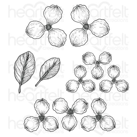 Sweet Magnolia Cling Rubber Stamp Set: Blooms