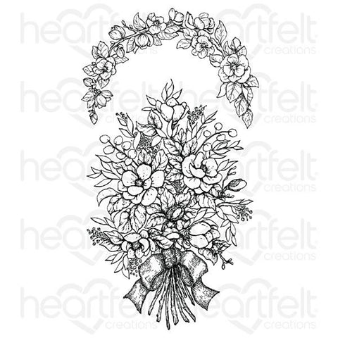 Sweet Magnolia Cling Rubber Stamp Set: Bouquet