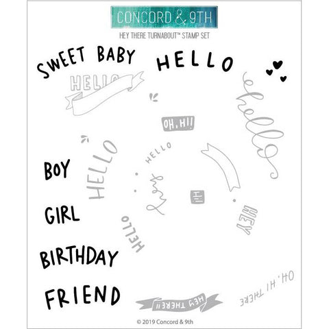 Hey There Turnabout 6x6 Clear Stamps