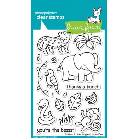 Critters in the Jungle 4x6 Clear Stamps