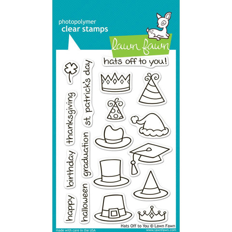 Hats Off To You 4x6 Clear Stamps