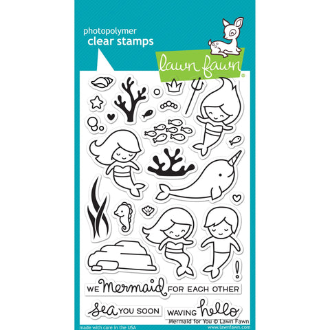Mermaid For You 4x6 Clear Stamps