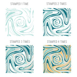 Marbled Turnabout 6x6 Clear Stamps