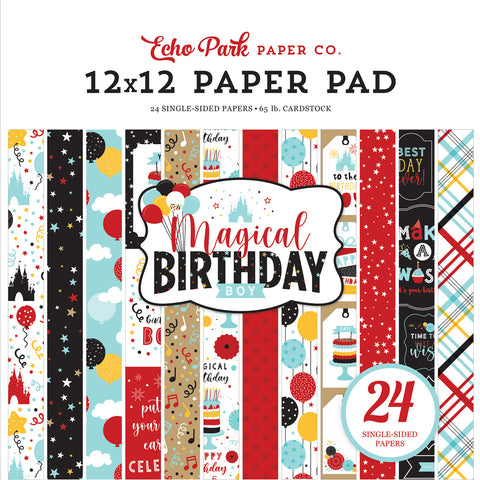 Magical Birthday Boy 12x12 Paper Pad