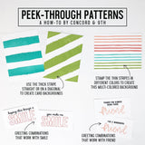 Peek-Through Patterns 6x8 Clear Stamps