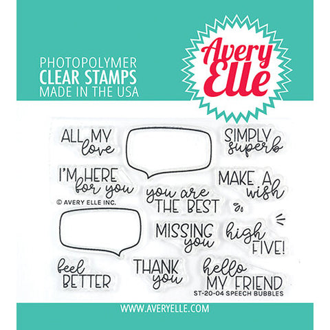 Speech Bubbles 3x4 Clear Stamps