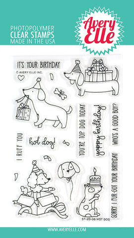 Hot Dog 4x6 Clear Stamps