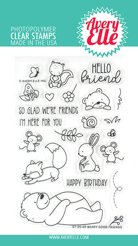 Beary Good Friends 4x6 Clear Stamps