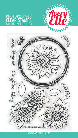 Sunflowers 4x6 Clear Stamps