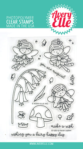 Fairy Happy 4x6 Clear Stamps